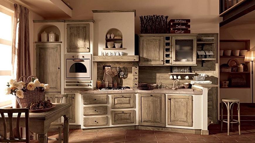 Cucine Roma: come arredare una cucina in muratura rustica?
